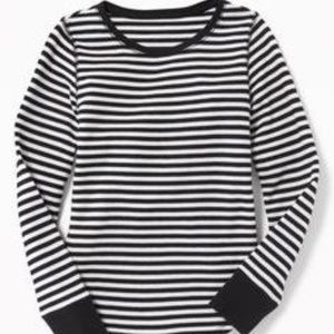 Old Navy Striped Long Sleeve Tee | Black & White
